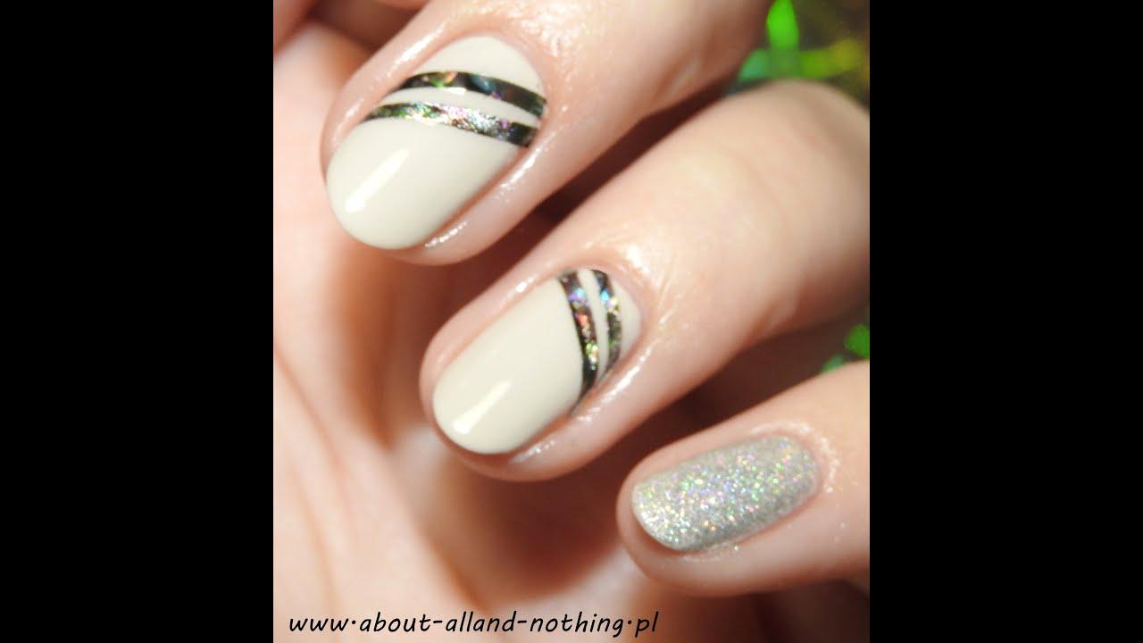 Proste wzorki na paznokcie: Muszelkowe paski || Simple nail art ...