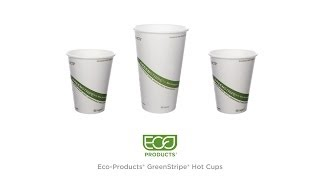 Eco-Products® GreenStripe® Hot Cups