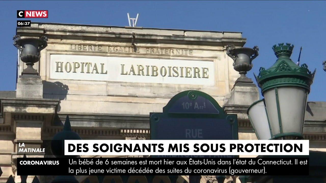 A l'hôpital Lariboisière de Paris, les soignants placés sous protection