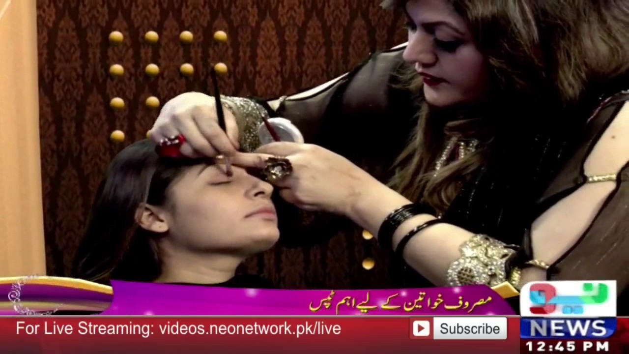 Tips By Zainab Neo News Eid Special Hindi How To Apply Video 80s Eye Makeup