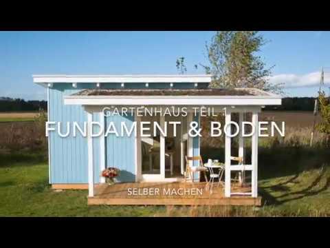 gartenhaus selber bauen fundament boden youtube. Black Bedroom Furniture Sets. Home Design Ideas