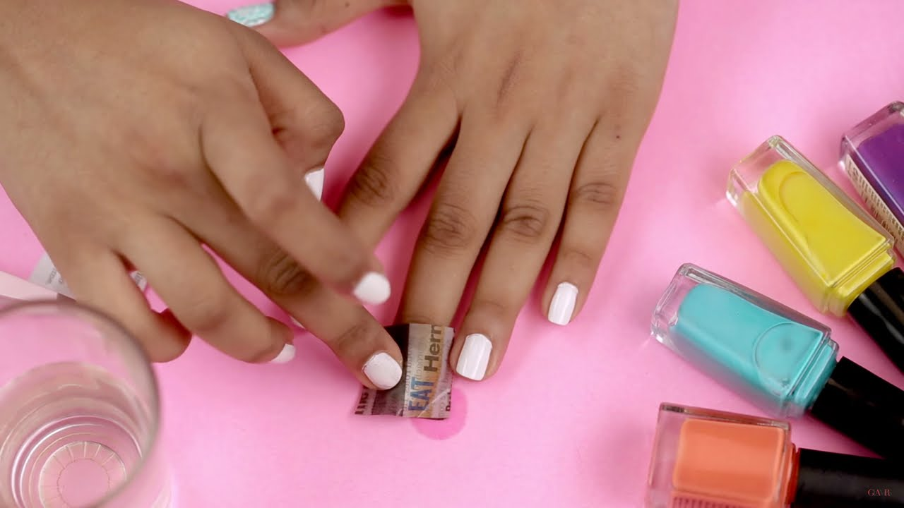 5 DIY Nail Art Using Household Items - Nail Art At Home - Glamrs ...
