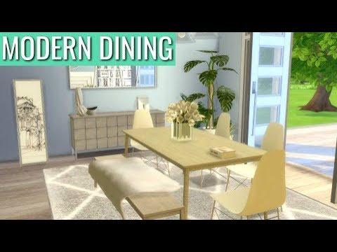 The Sims 4   Dining Room Build (Download + CC Creators List)