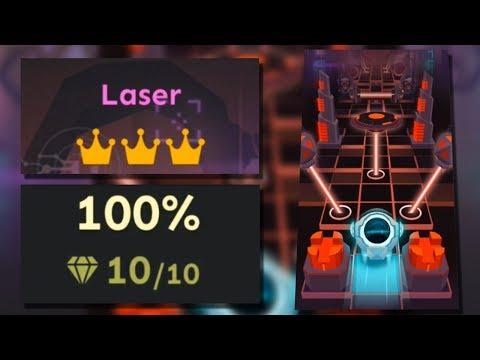 Rolling Sky Bonus lv.12 Laser 100% Clear - All Crowns & Gems | SHA