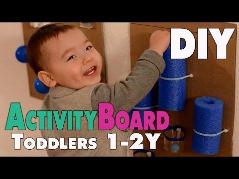 diy activity board f r kleinkinder von 1 2 jahren mamiblock der mami blog youtube. Black Bedroom Furniture Sets. Home Design Ideas