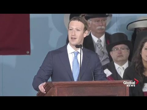 Facebook CEO Mark Zuckerberg delivers Harvard commencement f