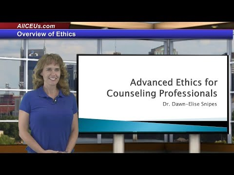Advanced Ethics for Addiction Counseling Professionals or LPC and LMHC CEUs - Training