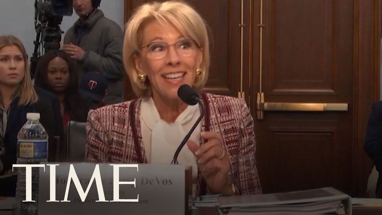 Betsy Devos And Plan To Break Public >> Betsy Devos Defends Slashing Funds For The Special Olympics Time