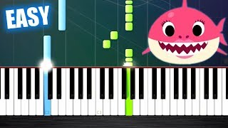Baby Shark Song - EASY Piano Tutorial by PlutaX