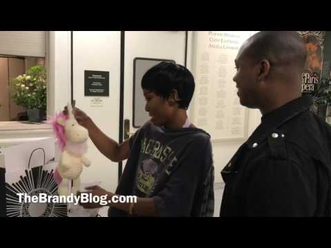 Brandy Opens Gifts from Vaughn Alvarez at Chicago The Musical