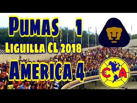 Pumas  vs   America 1- 4  Liguilla Cl 2018 | EL COLOR