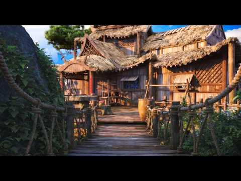 Maya natural scene creation process-绝隐仙山