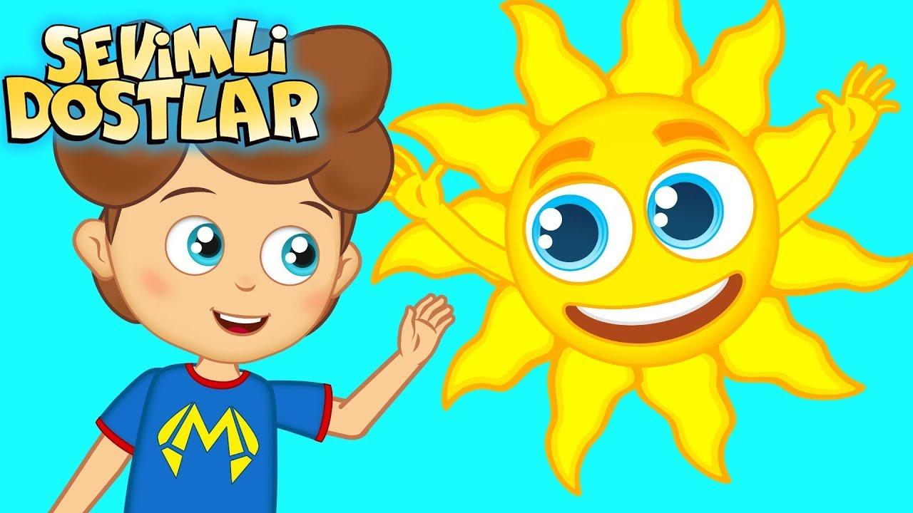 Güneş ile Ay | Sevimli Dostlar ile Çizgi Film Bebek Şarkıları 2018 | Adisebaba TV