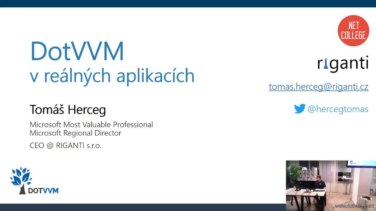DotVVM v reálných aplikacích (WUG Ostrava)