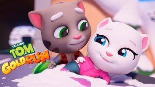 КОТ ТОМ БЕГ ЗА ЗОЛОТОМ мультик игра для детей и малышей ГОВОРЯЩИЙ ТОМ И ДРУЗЬЯ видео для детей