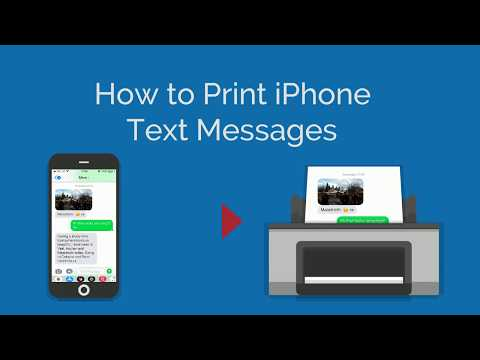 How to Print Out Text Messages for Court | iPhone and Android