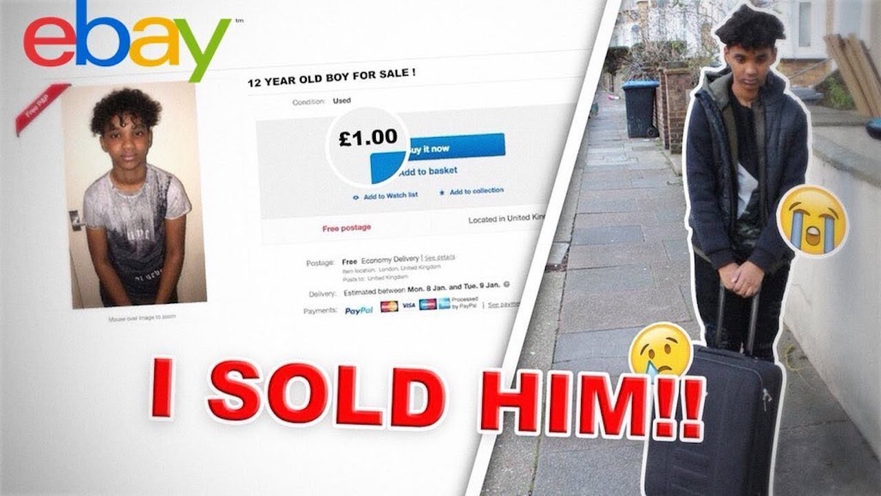 Selling My 12 Year Old Brother For 1 On Ebay Prank He Cries Youtube