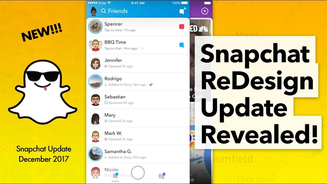 Snapchat ReDesign Update Revealed!