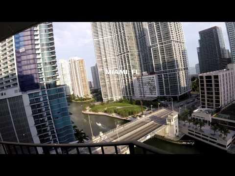 Miami River Bridge Brickell Ave fast forward