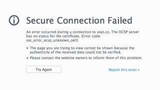Secure Connection Failed at FireFox Solution---2017