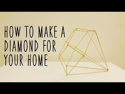 ♥ DIY Diamond Home Decor Piece ♥ - YouTube