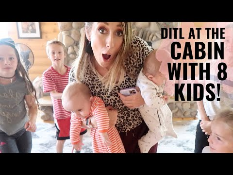 A day at the cabin with 8 kids! Routine, schedule, chores, meals + more!