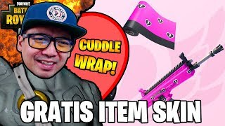 FINALLY, THE FREE SKINNED IN FORTNITE CUDDLE WRAP HERE! 💘