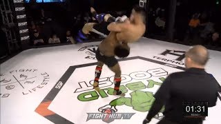 HOLY *&%$! EMON BAKER KO SLAMS OPPONENT INTO SHADOW REALM - MMA KNOCKOUT
