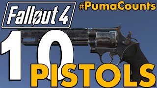 Top 10 Best Ballistic and Energy Pistols in Fallout 4 #PumaCounts