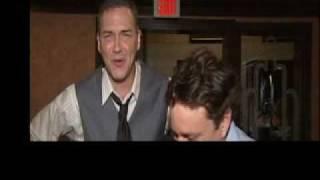 Chris Kattan & Norm MacDonald joking around.