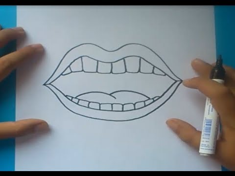 Como dibujar una boca paso a paso  How to draw a mouth  YouTube