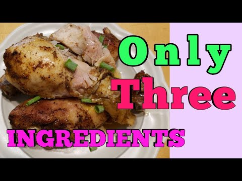 Chicken Drumsticks Recipe In Slow COOKER | Only 3 INGREDIENTS | Easy & Quick ♥️|by:Thalia Charles