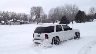 trailblazer ss playing in the snow