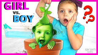 Huge Gender Reveal Party! Mystery Package for Kin Tin | Swimming Pool in my house | Blume Baby Pop!