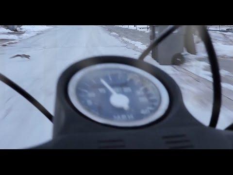 Frigid Moped Ride