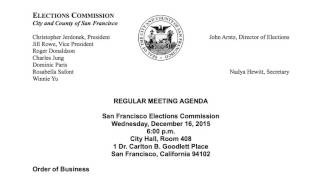 December 16, 2015 Elections Commission Meeting (audio only)