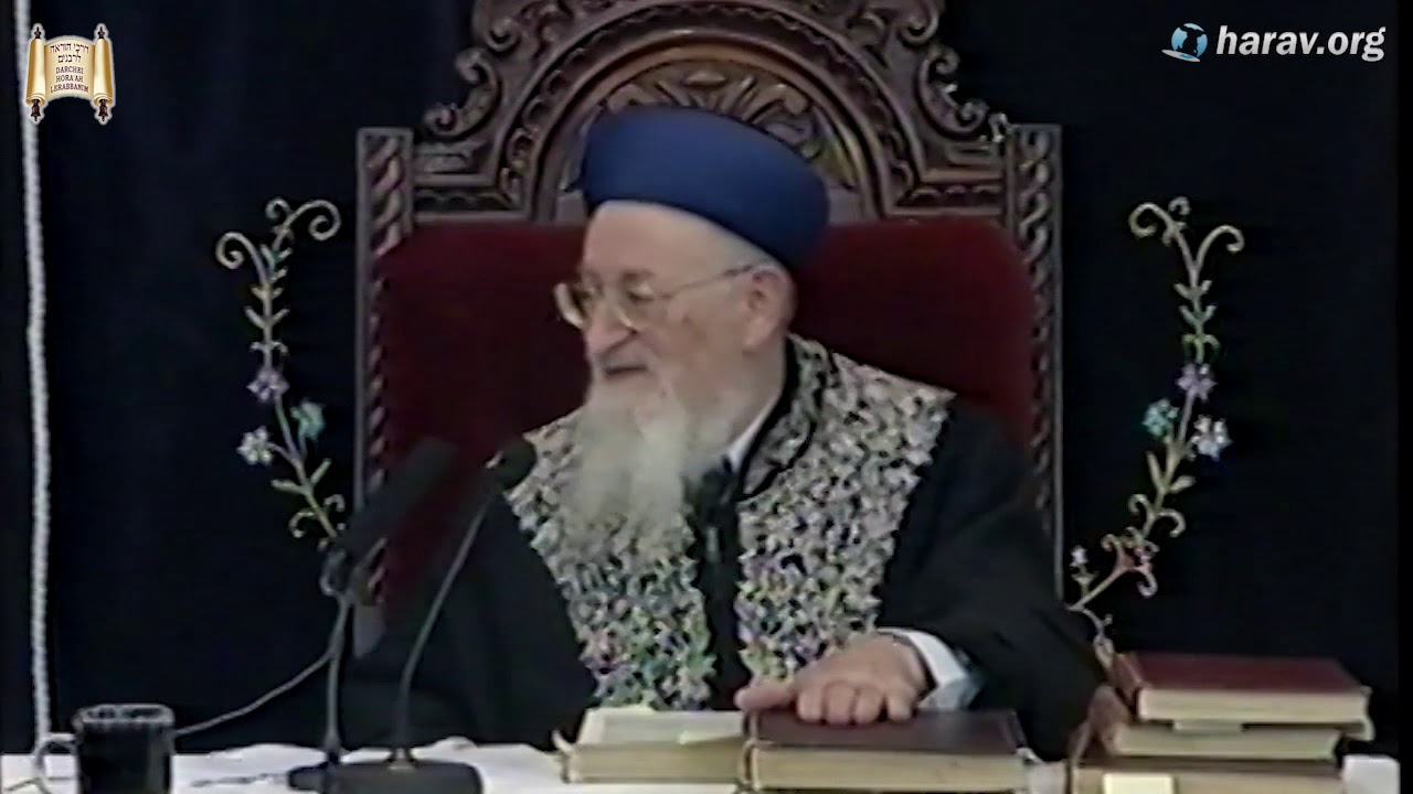 """הרב מרדכי אליהו זצוק""""ל מספר על כוונות בתקיעת שופר"""