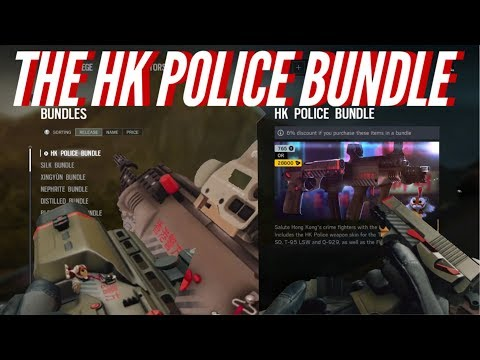 HK - POLICE BUNDLE - Ying & Lesion WEAPON SKIN + TALISMAN - Operation Blood Orchid - Rainbow Six