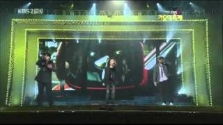 091230 Gayo Daejun Leessang Ft JungIn - The Girl Who Can't Break Up, The Boy Who Can't Leave [LIVE]