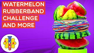 EXPLODING A WATERMELON WITH RUBBER BANDS! | Amazing Science Experiments | Lab 360