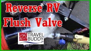 Flush King Reverse RV Flush Valve Review, Holding Tank Flushing System | RV Travel Buddy