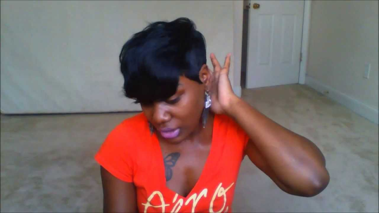 HOW TO ACHIEVE THE RIHANNA SHORT CUT! 28 PIECE QUICK WEAVE