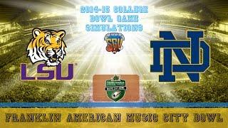 Franklin American Mortgage Music City Bowl Sim - LSU vs Notre Dame (NCAA Football 14 - Xbox 360)
