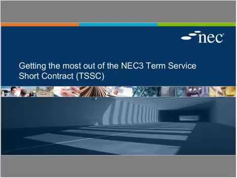 Webinar: Getting the most out of the NEC3 Term Service Short Contract (TSSC)