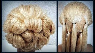 Красивые прически пошагово.Легкая Свадебная и Вечерняя прическа.Beautiful hairstyles step by step