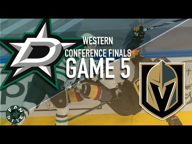 Dallas Stars vs Vegas Golden Knights | Game 5, Western Conference Finals | 2020 Stanley Cup Playoffs