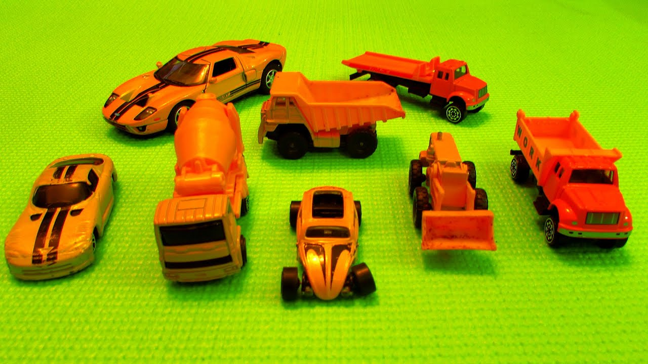 Street Vehicles Colors, Yellow Vehicles For Kids, Educational Video ...