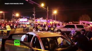 Видео с места наезда автомобиля на толпу в Новом Орлеане