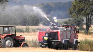 dogaszanie pożaru ścierniska Granica 2015-08-08