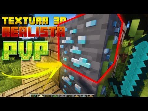 TEXTURA 3D REALISTA NO PVP! - (Minecraft) Sky Wars